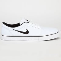 Nike Sb Satire Canvas Mens Shoes White/Black  In Sizes
