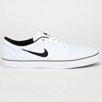 Nike Sb Satire Canvas Mens Shoes White Black In Sizes 9611cd99a