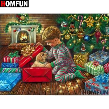 5D Diamond Painting Puppy for Christmas Kit
