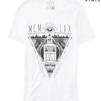 Free State Mens Free State MCM LXX Graphic T-Shirt - White,