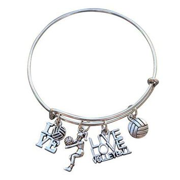 Volleyball Bangle Bracelet