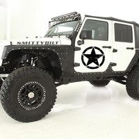 Jeep Wrangler Car vinyl graphics Star in the circle logo j002