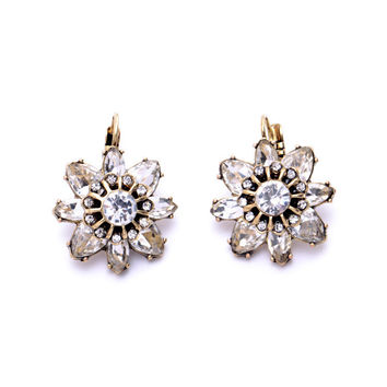 Bling Flower Earrings