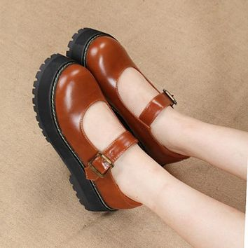 Mary Jane Platforms Shoes
