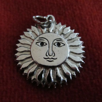 Lovely Sterling Silver Sun Charm, Virgin Islands