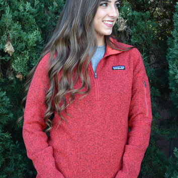 Patagonia Women's Better Sweater Quarter Zip Fleece- Sumac Red
