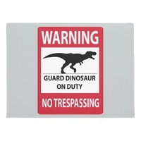 No Trespassing (T-Rex) Sign Doormat