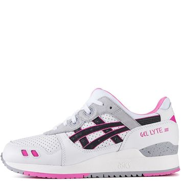 asics for women gel lyte iii white black running shoes  number 4