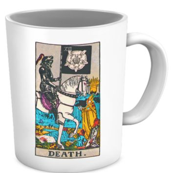 Death Tarot Card Coffee Cup Mug deathtarotmug