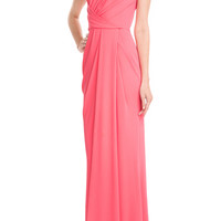 Elie Saab - Draped Twill Evening Gown