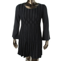 Style & Co. Womens Plus Knit Long Sleeves Sweaterdress
