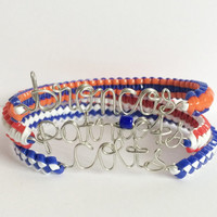 NFL Team Name Cobra Bracelet (team colors/team name)
