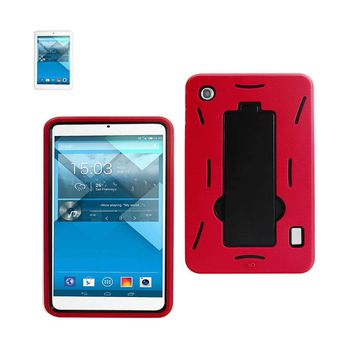 New Non Slip Case With Kickstand In Black Red For Alcatel One Touch Pop 7 By Reiko