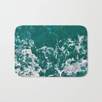 Emerald Bath Mat by ARTbyJWP