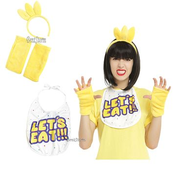 Licensed cool Chica Chicken Five Nights at Freddy's Adult Headband LET'S EAT BIB Costume Kit