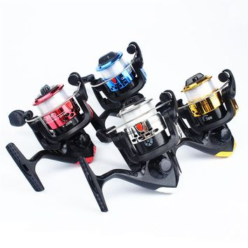 Folding rocker with line reel reel spinning type 200 fold plating left and right interchangeable line sea otter fishing