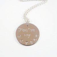 You're my person Necklace~Valentines day unique gift for Greys Anatomy fan,Cristina Meredith Best friend,daughter birthday, wife anniversary