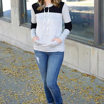 Grey and Black  Pullover Shirt