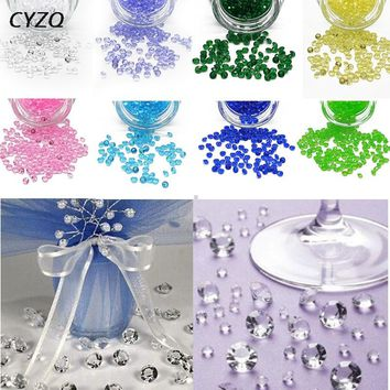 1000PCS 4.5mm Acrylic Crystals Confetti Wedding Table Scatter decoration Party Supplies / 16 color options