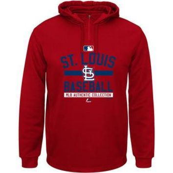 St Louis Cardinals Majestic MLB Red AC Team Property Pullover Hoodie