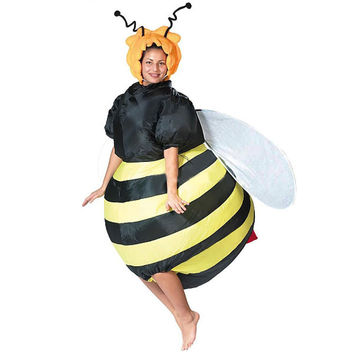 Bumble Bee Costume Inflatable Fancy Dress Outfit Purim Party Bar Club Cosplay Animal Suit Halloween Costumes for Women