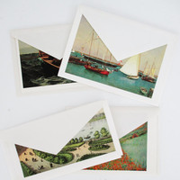 Vintage Greeting Cards (18) with Box Set of Unused Vintage Stationary Museum of Fine Arts Note Cards Blank Greeting Cards Note Cards