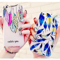 Feather Printed Iphone Case for 6 6S plus