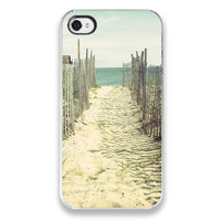 Beach iPhone 4 Case - Cape Cod Beach Photograph - iPhone Cover, cell phone iPhone case, ocean beach photography blue sand surf nautical