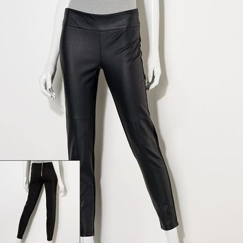 Princess Vera Wang Faux-Leather Ponte Leggings - Juniors