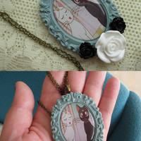 SALE - Sailor Moon Necklaces - LUNA & ARTEMIS  - Anime set