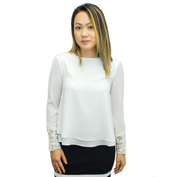 Relished Women's Whitney Blouse | Overstock.com Shopping - The Best Deals on Long Sleeve Shirts