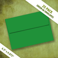 A6 Size GREEN Envelopes | Pack of 25