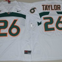 NIKE New Arrival Miami Hurricanes Sean Taylor 26 College Jerseys