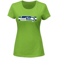 Seattle Seahawks Ladies Forward Progress II T-Shirt - Neon Green