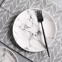 6 or 8 inch Marble pattern porcelain plate ceramic Dinner Plate tableware dinner set marble dinnerware