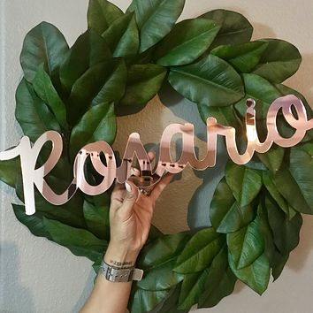"""18"""" Rose Gold Small Personalized Name Sign"""