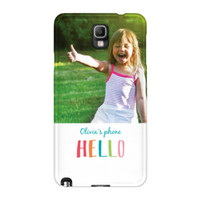 Crayon Hello Samsung Galaxy Note 3 ColorStrong Slim-Pro Case - Cherishables