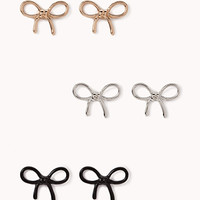 Playful Bow Stud Set