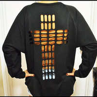 Cross cut out Sweatshirt