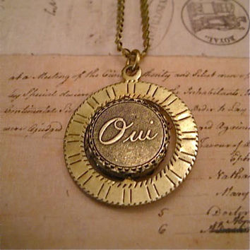 Spinner Necklace Oui and Non