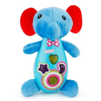 Baby Toys Plush Kids Musical Toys Infants Seahorse Turtle Elephant Lion Stuffed Animal Dolls