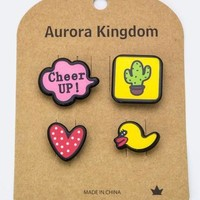 Cheer Up Patch & Pin Set