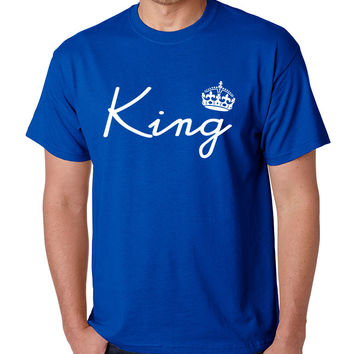 King with crown men t-shirt