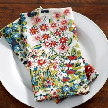 SPRING BLOSSOM PRINT NAPKINS, SET OF 4
