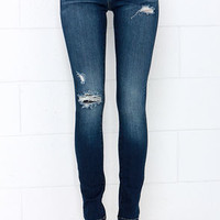 Blank NYC Skinny Classique Distressed Dark Blue Skinny Jeans