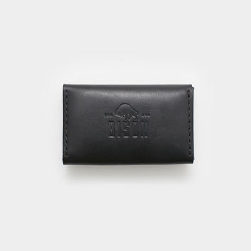 Bison Business Card Case - Jet Black