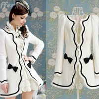 iOffer: vintage women white slim wool blend coat jacket trench for sale