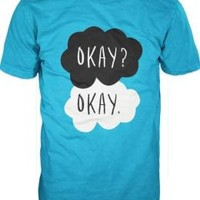 John Green Fault In Our Stars Adult Turquoise T-Shirt - S/M