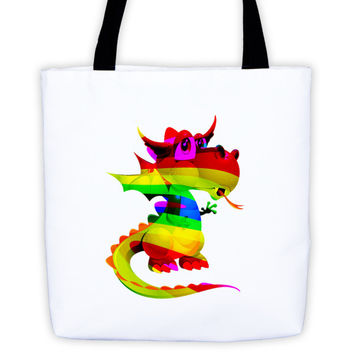 Draco Rainbow Tote bag
