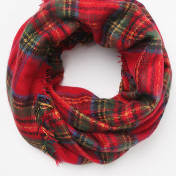 LA Hearts Plaid Square Scarf at PacSun.com